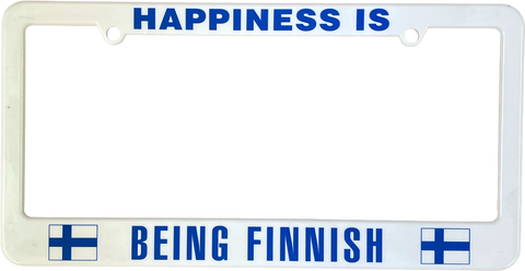 Happiness is being Finnish license plate frame
