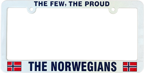 The Few, the proud, the Norwegians license plate frame