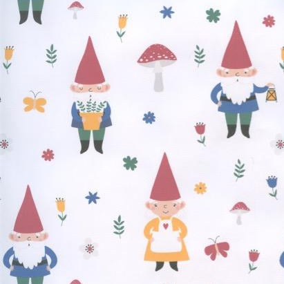 Gnomes & Mushrooms Gift wrap or craft paper
