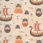 Vikings & Ships Gift wrap or craft paper