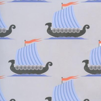 Viking Ships Gift wrap or craft paper