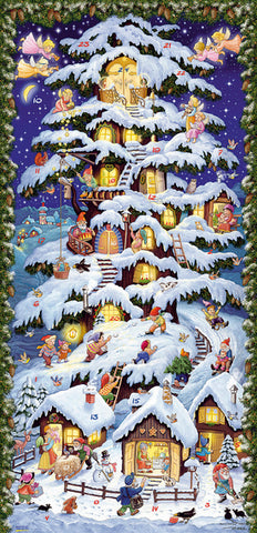 Village Tree house with Gnomes Advent Calendar