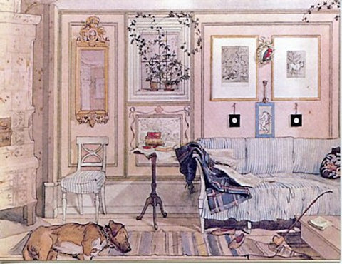 Boxed Note Cards, Carl Larsson Sleeping dog