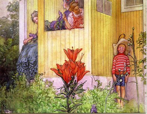Boxed Note Cards, Carl Larsson Boy hiding
