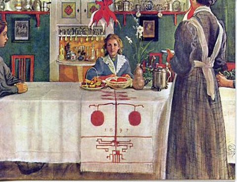 Boxed Note Cards, Carl Larsson Girl setting table