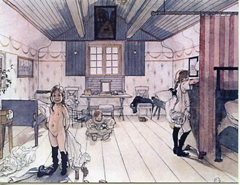 Boxed Note Cards, Carl Larsson Mama & the little girls room