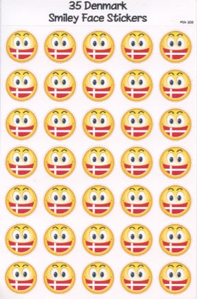 Danish Smiley Face Stickers