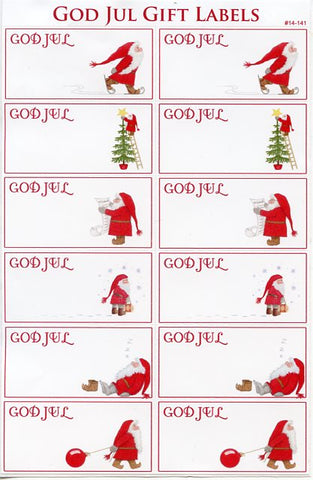 Eva Melhuish God Jul Gift Label Stickers