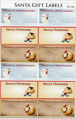 Merry Christmas Gift Label Stickers