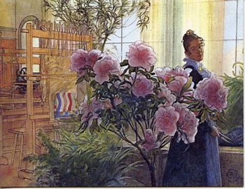 Boxed Note Cards, Carl Larsson Azaleas