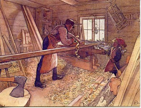 Boxed Note Cards, Carl Larsson Carpenters work shop