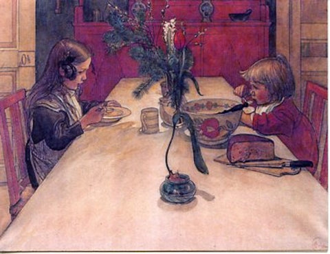 Boxed Note Cards, Carl Larsson Children at table