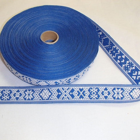 Fabric Ribbon Trim by the yard - Nordic star