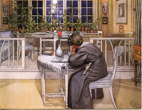 Boxed Note Cards, Carl Larsson Letter writing