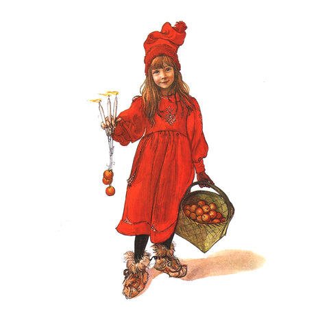 Boxed cards, Carl Larsson Apple Girl