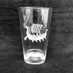 Etched 16oz pint glass - Viking Ship