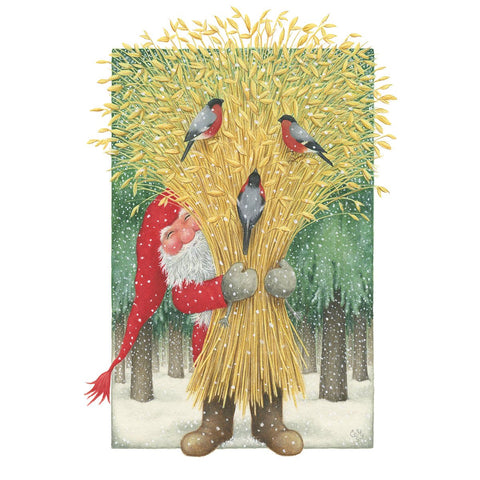 Eva Melhuish boxed cards, Tomte with Wheat