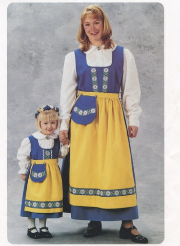Swedish National Costume Dress for Ladies