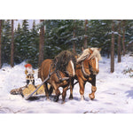 Jan Bergerlind boxed cards, tomte with horses