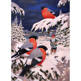 Jan Bergerlind boxed cards, tomte with winter birds