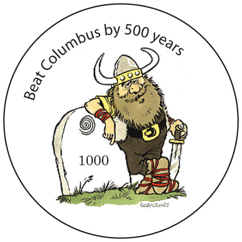 Beat Columbus round button/magnet