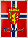 Norway Flag & Crest playing cards