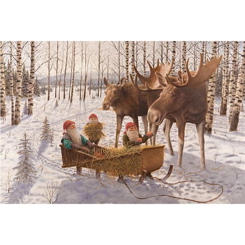 Jan Bergerlind boxed cards, tomtes and moose