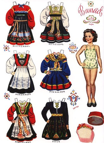 Norwegian Paper Dolls - Set of 4