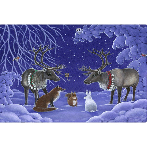 Eva Melhuish boxed cards, Two reindeer & Animals