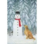 Eva Melhuish boxed cards, Snowman & Golden retriever