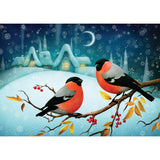 Boxed cards, Winter bird pair