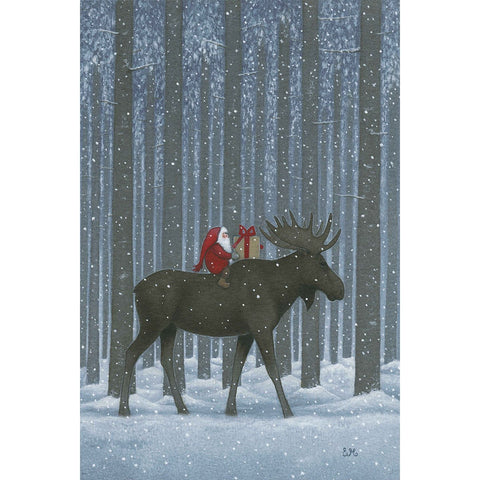 Rectangle Magnet, Eva Melhuish Tall Trees with Moose