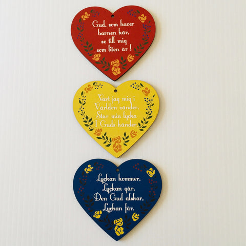 Swedish Children's Prayer Hearts - Set of 3
