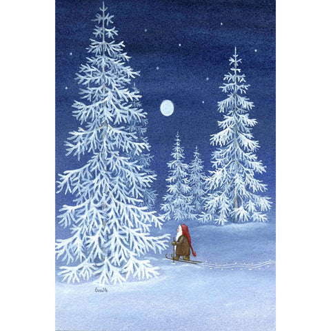 Eva Melhuish boxed cards, Tomte in Forest