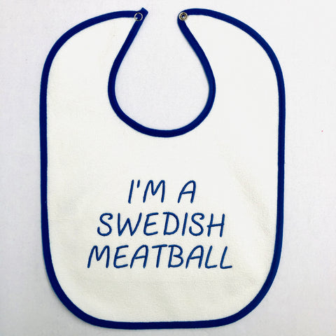 Baby Bib, I'm a Swedish Meatball