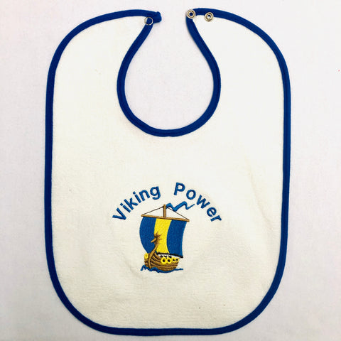 Baby Bib, Viking Power on Royal