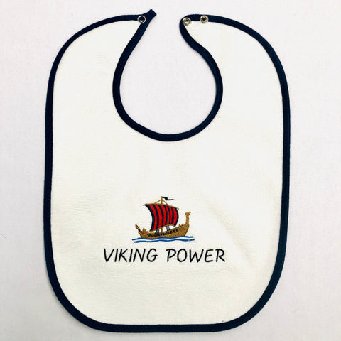 Baby Bib, Viking Power (Blue & Red)