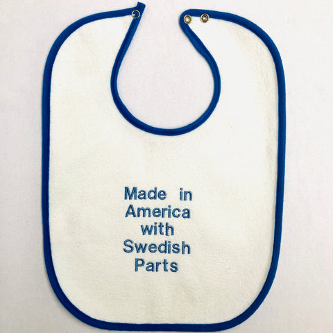 Baby Bib, Swedish Parts on royal