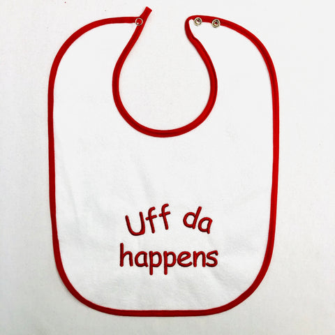 Baby Bib, UffDa happens on Red