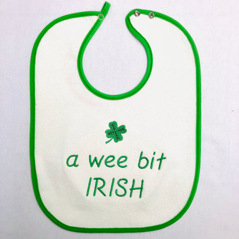 Baby Bib, A Wee bit Irish on Green