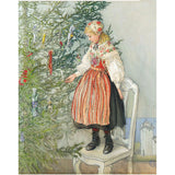 Boxed cards, Carl Larsson girl decorating tree
