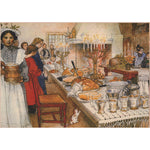 Boxed cards, Carl Larsson Christmas dinner table