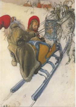 Boxed cards, Carl Larsson Sleigh ride