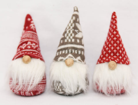 Mini bean bag gnomes - set of 3