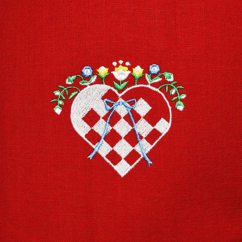 Dish Towel - Heart Basket