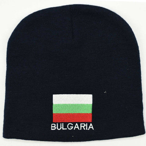 Knit beanie hat - Bulgaria flag