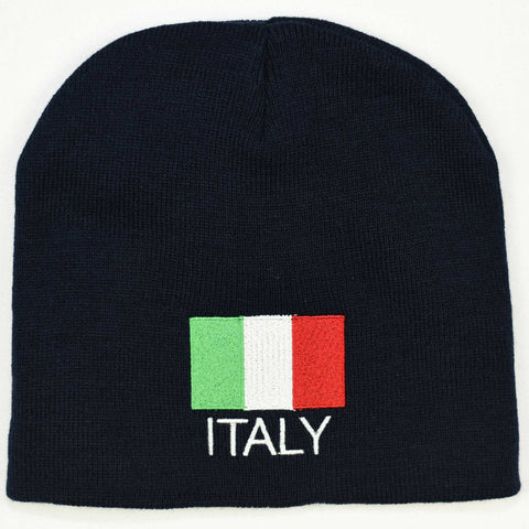 Knit beanie hat - Italy flag