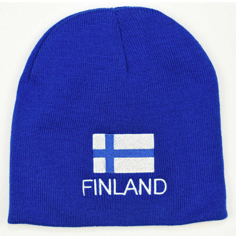 Knit beanie hat - Finland flag