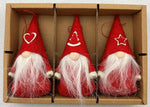 Red gnome ornaments - Set of 3