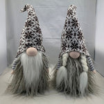 Brown knit hat gnome couple, 20""